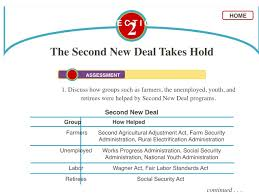 New Deal Programs Chart Answers Chapter 23 The New Deal