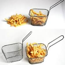 fast food maker french fries holder oil frying net square block fast food maker