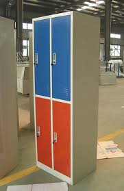 4 doors Metal Storage Cabinet School Employee Color Lockid6805013