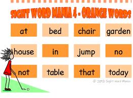 Sight Word Charts Sight Word Mania