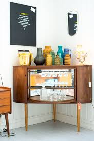 Mid Century Modern Bar Is A Corner Liquor Cabinet Home