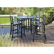 Patio Ideas Bar Height Patio Set With Swivel Chairs Patio Bar