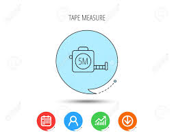Tape Measurement Icon Roll Ruler Sign Calendar User And Business