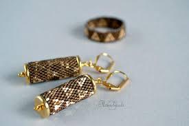 Комплект Луи, золотые <b>серьги</b>, кольцо, драгоценный бисер ...