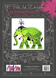 Pink Ink Designs Stencils Pink Ink Designs Pink Ink Layered Stencils Elephant