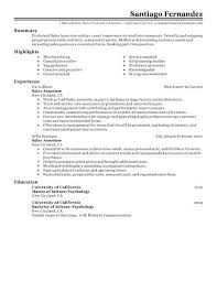 Sales Associate Resume Examples Extraordinary Examples Of Resumes For Retail Jobs Part Time Sales Associate Resume