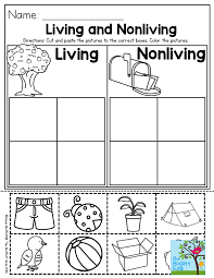Living and Nonliving- a great Preschool activity to help students ...