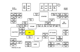 2001 gmc location of the drl relay for the headlights mechanics 2001 Gmc Sierra Fuse Box 2001 Gmc Sierra Fuse Box #50 2001 gmc sierra fuse box diagram