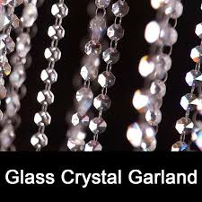 50 meters clear crystal glass beaded garlands chandelier crystal strands for wedding centerpiece decorations and party