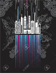 Brilliant City Window Texture Vector Art Form Town Many On Inspiration