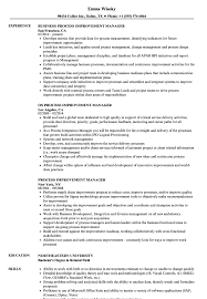 Process Improvement Resume Examples Process Improvement Manager Resume Samples Velvet Jobs 1