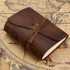 junetree vintage handmade leather diary notebook sketchbook travel journal blank writing paper note books gifts stationer