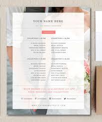 Wedding Price List Wedding Photographer Price List Flyer Templates Creative Market 1
