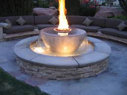 Patio Ideas Gas Fire Pit Kits With Small Fountain Ideas And Patio