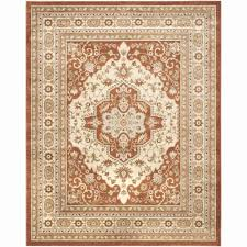 10 x 16 area rug new safavieh floeen rust red ivory rug 8 x 10 flr130