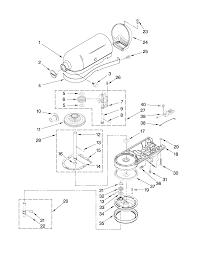 Kitchenaid artisan mixer parts diagram luxurius stand m 19 on home