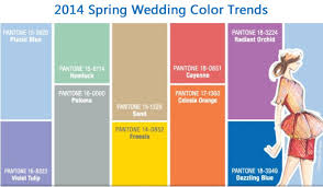 wedding color trends for spring 2014 from pantone