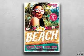 Beach Party Flyer Template V5 ~ Flyer Templates ~ Creative Market