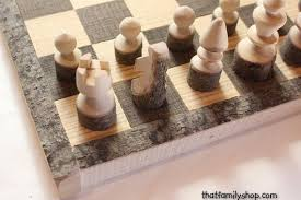 Handmade Wooden Board Games Gorgeous Rustic Chess Set Log Wooden Chess Board Handmade Chess Set Etsy