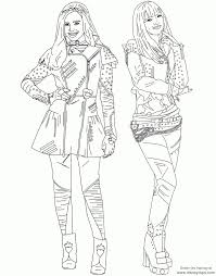 Best Descendants Coloring Pages Printable And Online Coloring