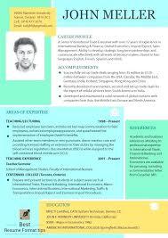Resume Format 2016 Most Effective Resume Resume Format Best Resume