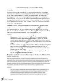 origins of the cold war essay origins of the cold war essay slideshare