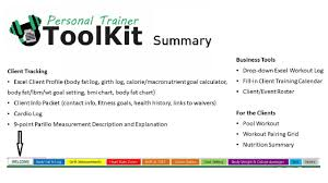 Personal Training Chart Personal Trainer Toolkit Samples
