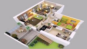 4 bedroom house plans 2 story 3d
