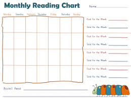 Monthly Reward Chart Template Reading Chart Printable Wiring Diagrams