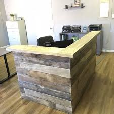 Reclaimed Wood Reception Counter Reclaimed by KFarmsWoodworking