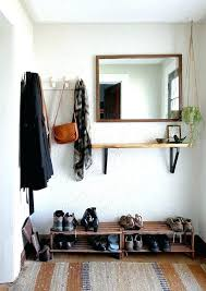 Entryway Wall Mounted Coat Rack Wall Mirrors Coat Rack Entryway Wall Mirror Mounted With Shelf And 95