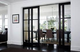 modern sliding doors. Stylish Sliding Glass Door Designs: 40 Modern Images : Elegant Dining Area Concealed By Doors