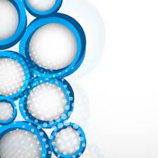 Blue Circle Design Decoration vector