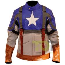 captain american flag the first avenger leather jacket