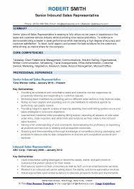 Sales Summary Resume Inbound Sales Representative Resume Samples Qwikresume