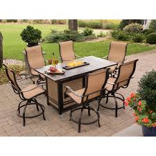 fire pit dining table. Fire Patio Set Counter Height Pit Dining Table Conversation Furniture With Fireplace Propane