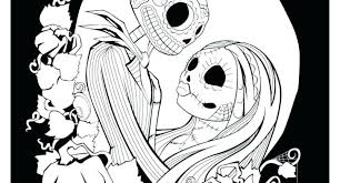 Nightmare Before Christmas Coloring Pages The Nightmare Before