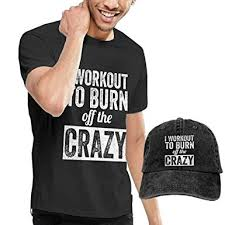 Crazy Shirts Size Chart Amazon Com I Workout To Burn Off The Crazy T Shirt Short