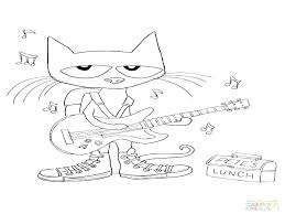 Pete The Cat Coloring Pages Shoes Best Page Buttons Acnee