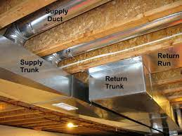 cold air return in basement ceiling