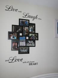 Small Picture EASY and CHEAP DIY collage picture frame from with wall sticker