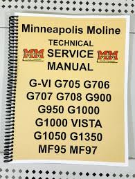 g950 minneapolis moline tractor technical service shop manual g 950 details about g950 minneapolis moline tractor technical service shop manual g 950 g 950