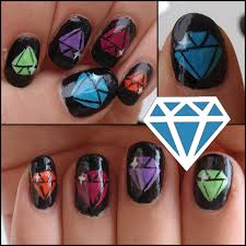 Nail Art With Diamonds - Nail Arts