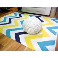 reversible flatweave chevron cotton floor rugs aqua navy mustard