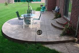Stamped Concrete Patios Heres a simple rounded stamped con