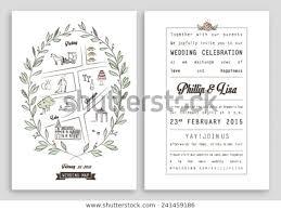 Royal Invitation Template Wedding Invitation Template Map Royal Invitation Stock