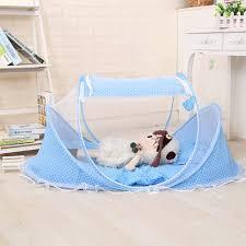 whole infant newborn foldable tent slp mat with cotton pillow folding travel portable soft children baby