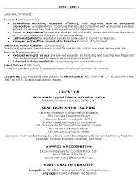 resume sample law enforcement professional page 2 law enforcement resume examples