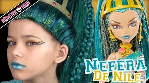 monster high nefera de nile doll costume makeup tutorial for or cosplay kittiesmama you