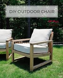 diy outdoor chair with a slanted back